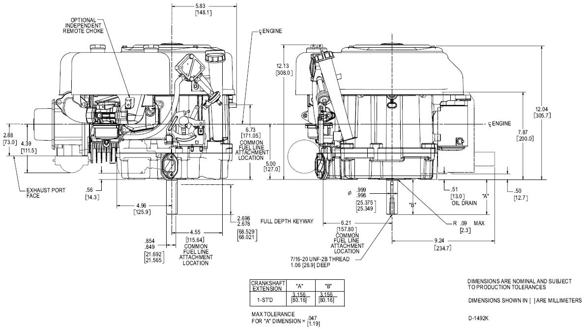 briggs and stratton lawn mower engine diagram