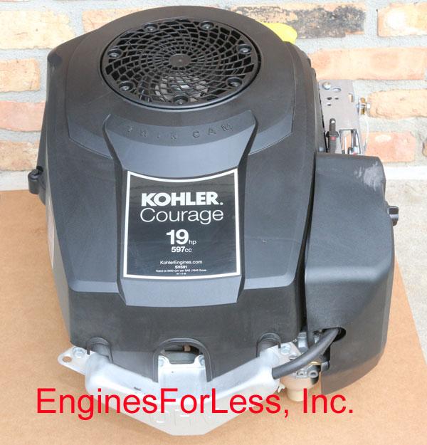Details about 19 HP KOHLER COURAGE SV591-3212 NO FUEL PUMP 597CC LAWN MOWER  ENGINE MOTOR